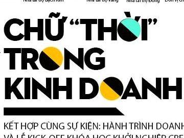 """HỘI THẢO """"CHỮ 'THỜI' TRONG KINH DOANH"""""""
