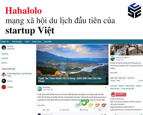 Hahalolo – mạng xã hội du lịch đầu tiên của startup Việt