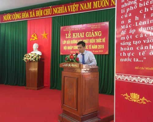 Tổng kết chương trình bồi dưỡng tại tỉnh Quảng Ngãi năm 2019