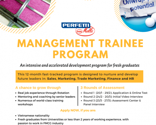 Perfetti Van Melle_Chương trình Management Trainee Program 2020