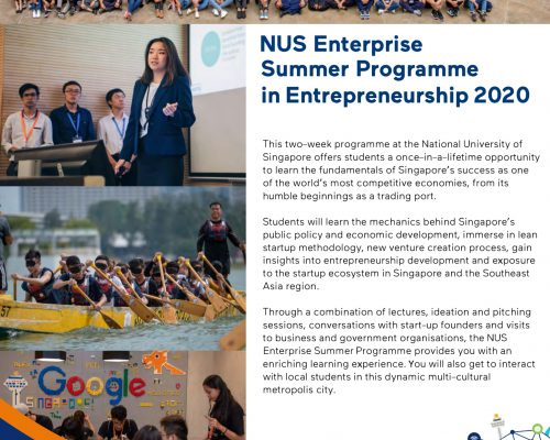 NUS Enterprise Summer Programme in Entrepreneurship 2020