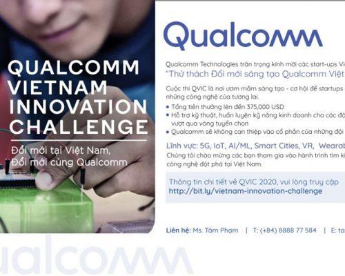 """Cuộc thi """"Thử thách đổi mới sáng tạo Qualcomm Việt Nam"""" (QVIC) đã chính thức mở đăng ký"""
