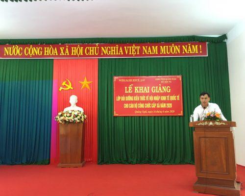 Khóa Bồi dưỡng Kiến thức Kinh tế Quốc tế trong điều kiện cách mạng 4.0 tại Quảng Ngãi năm 2020
