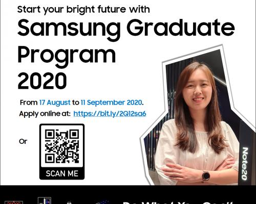 Samsung's Graduate Recruitment Program 2020 – Chương Trình Tuyển Dụng Sinh Viên Mới Tốt Nghiệp