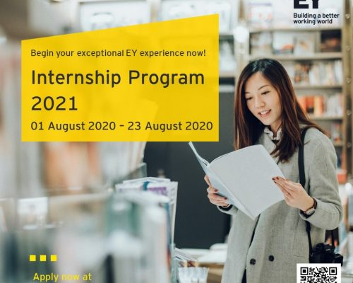 Chương trình Tuyển dụng Thực tập sinh của EY Việt Nam dành cho các bạn sinh viên sẽ tốt nghiệp vào năm 2021 – chính thức được khởi động