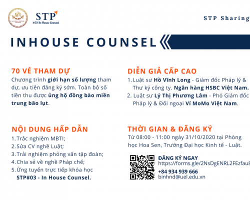 Tuyển chọn tham dự STP Sharing – In House Counsel