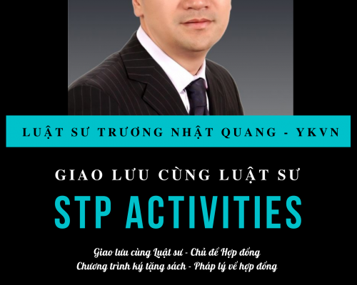 [STP Activities] Chương trình giao lưu cùngLuật sư Trương Nhật Quang
