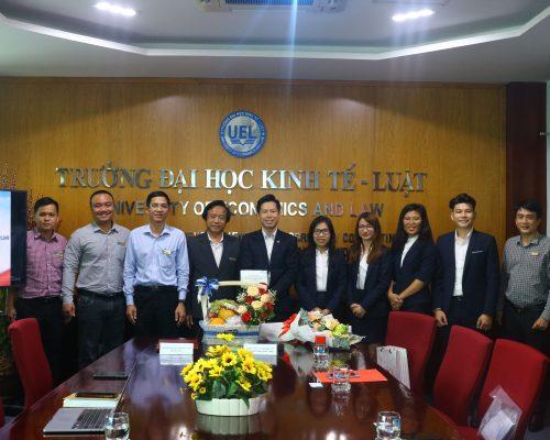 Lễ ký kết hợp tác giữa Trường Đại học Kinh tế – Luật và Công ty CP Tư vấn Đầu tư Bất động sản Emaar Land