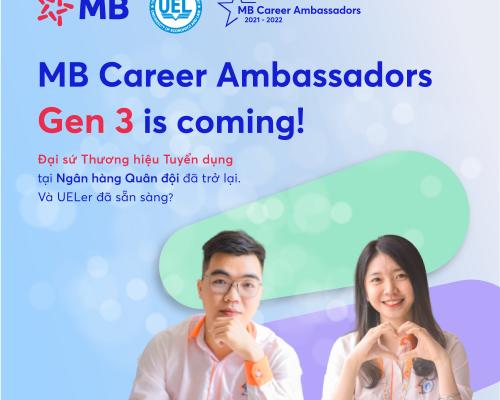 MB Career Ambassadors Gen 3 – Chương trình Đại sứ Thương hiệu Tuyển dụng