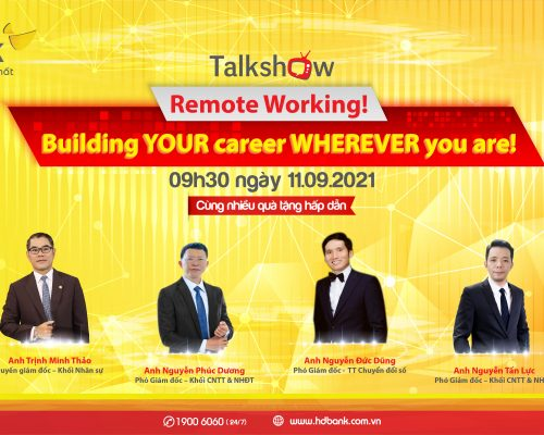 """Talkshow """"Remote Working! Building YOUR career WHEREVER you are!"""""""